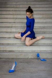 Niebieskie buty